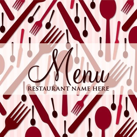 Modern menu with a retro touch in vector format