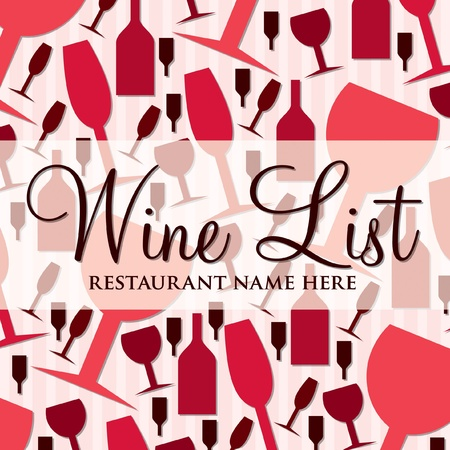 Modern wine list with a retro touch in vector format