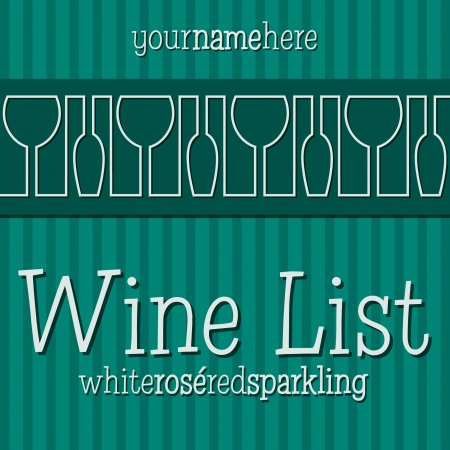 Retro inspired wine list with a modern touch in vector format  Vector