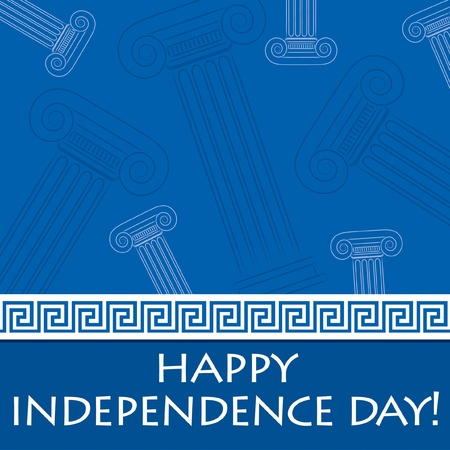 greece: Happy Independence Day card for Greece in vector format