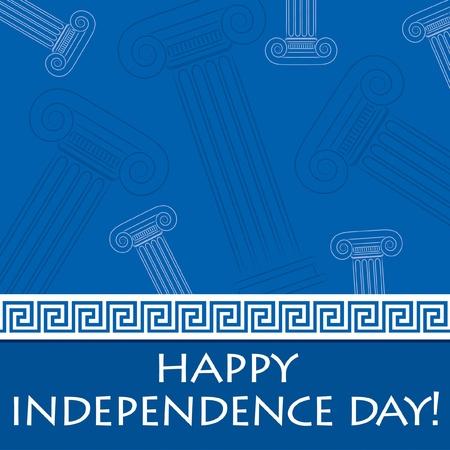 grecia antigua: Tarjeta D?a de la Independencia feliz para Grecia en formato vectorial