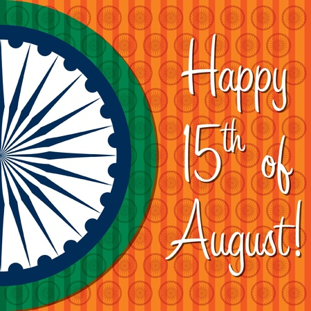 Happy Independence Day India card in vector format