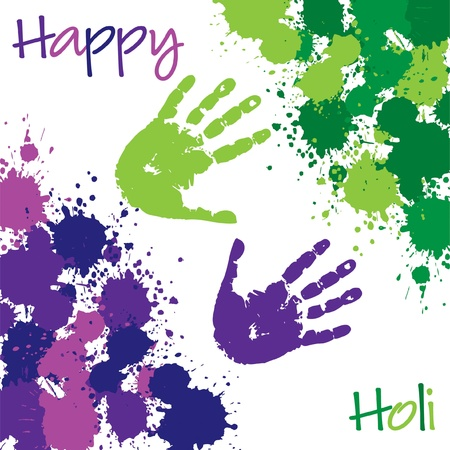 Happy Holi card in vector format  Vector