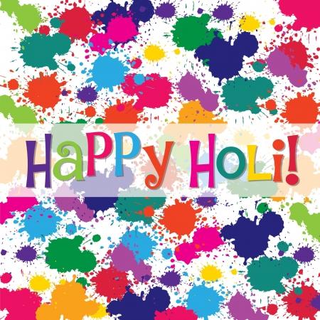 Happy Holi card in vector format  Vector