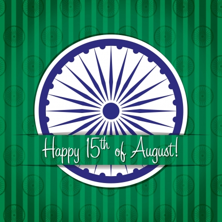 fifteen: Happy Independence Day India card in vector format