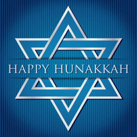 Happy Hanukkah  blue star of David card in vector format  Stock Vector - 19469991