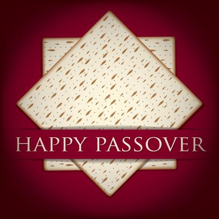 matza: Happy Passover card in vector format  Illustration