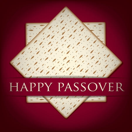 matzo: Happy Passover card in vector format  Illustration