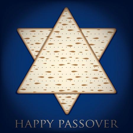 jewish star: Happy Passover card in vector format  Illustration