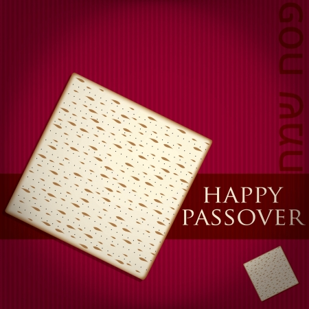 matzoh: Happy Passover card in vector format  Illustration