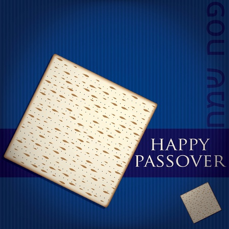 pesach: Happy Passover card in vector format  Illustration
