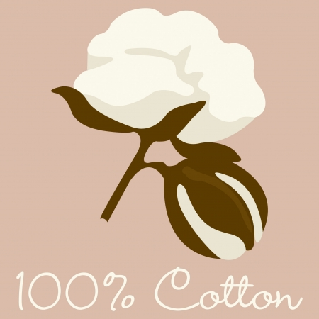 100  Cotton sign in format  Vector