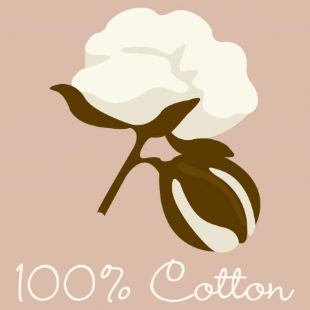 tela algodon: 100 signo algod�n en formato Vectores
