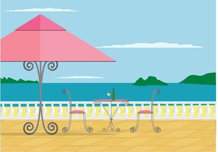A image of a beach cafe  Stock Vector - 19511122