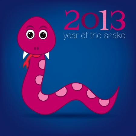 slither: Bright 2013 Year of the snake card Illustration