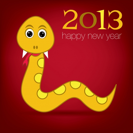 snake year: Bright 2013 Year of the snake card