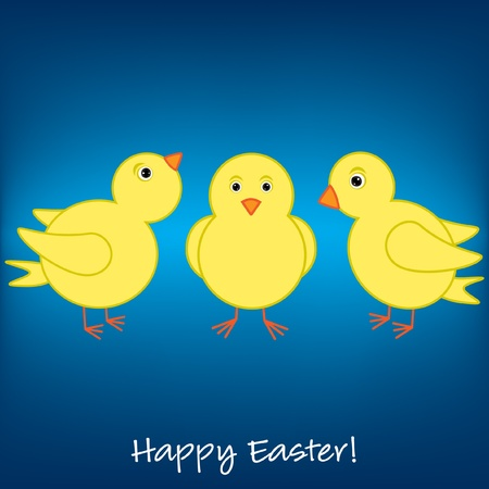 Cheep  Cheep  Happy Easter card Vector
