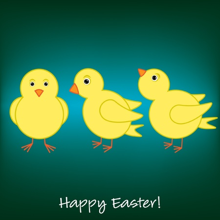 Cheep  Cheep  Happy Easter card Stock Vector - 19511276