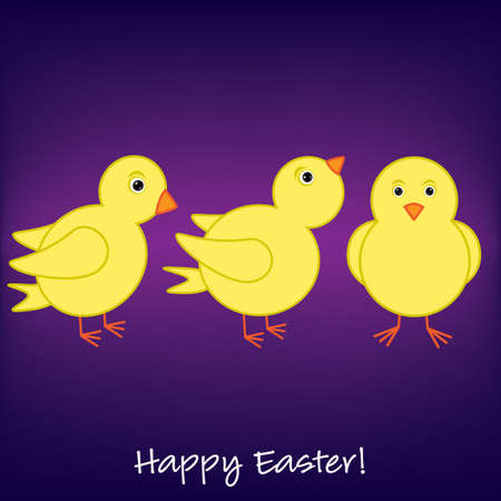 Cheep  Cheep  Happy Easter card Stock Vector - 19511245