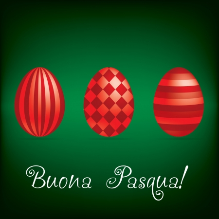 pasqua:  Happy Easter  bright egg card  Illustration