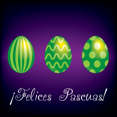 Happy Easter  bright egg card in vector format  Vector