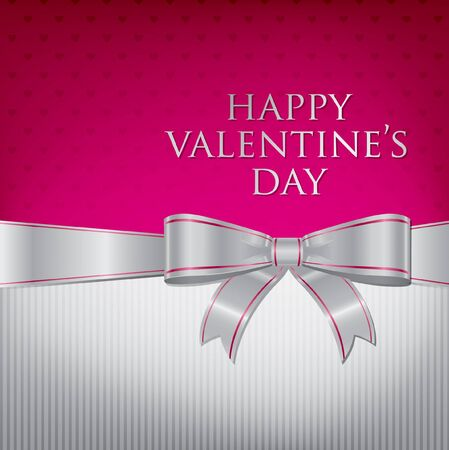 Bow Valentine s Day Card  Vector