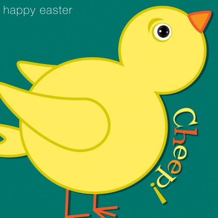 Cheep  Chick Happy Easter Card Vector