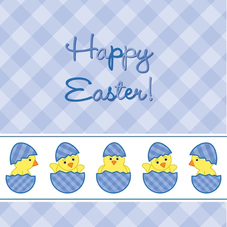 Baby Chicks Easter card Stock Vector - 19511179