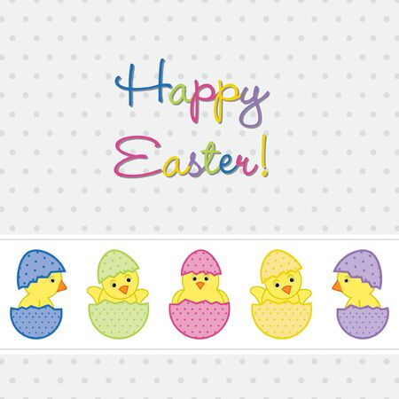 Baby Chicks Easter card  Vector
