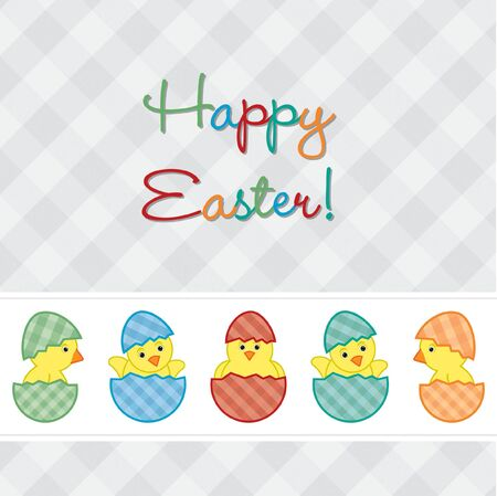 Baby Chicks Easter card Stock Vector - 19511174