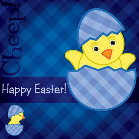 Baby Chick Easter card  Vector