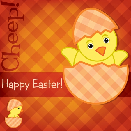 Baby Chick Easter card Stock Vector - 19511517