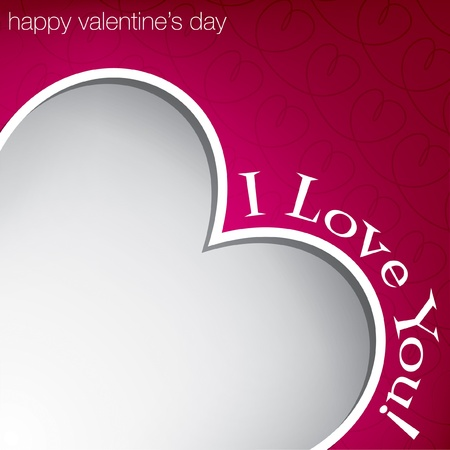 Hiding heart Valentine s Day card Vector