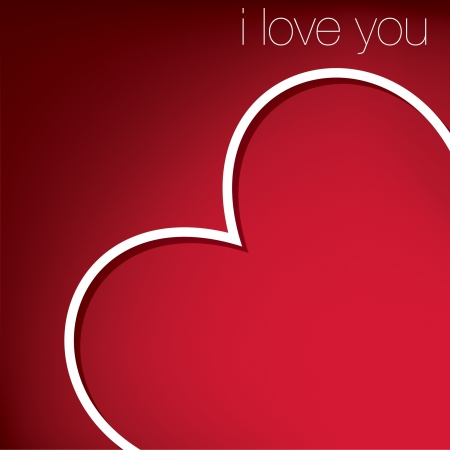 Hiding heart Valentine s Day card Vector
