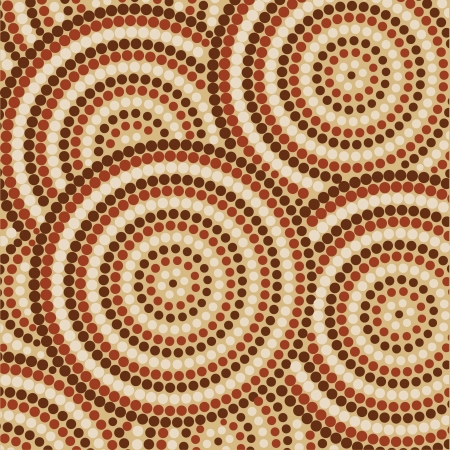 australian outback: Abstract Aboriginal dot painting Illustration