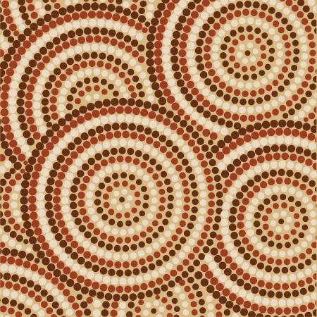 aboriginal: La pintura abstracta de puntos aborigen