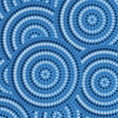 Peinture abstraite dot autochtone Vecteurs