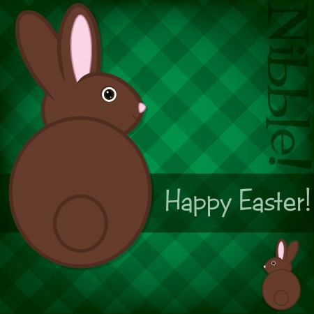 nibble: Easter bunny card  Illustration