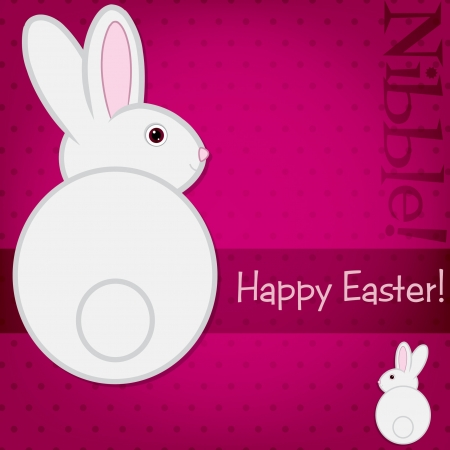 nibble: Easter bunny card