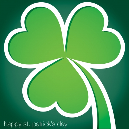 Happy St Patrick s Day shamrock card  Vector