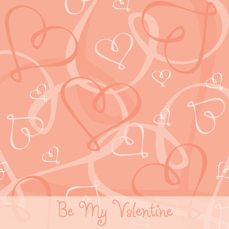 Hand Drawn heart textured card background in vector format Stock Vector - 19643706