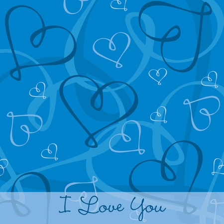 Hand Drawn heart textured card background in vector format Stock Vector - 19644393
