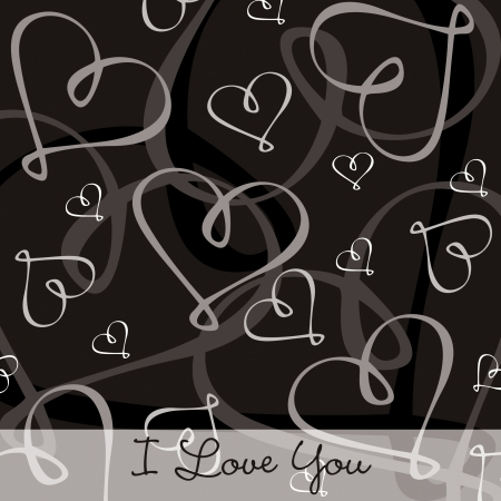 Hand Drawn heart textured card background in vector format Stock Vector - 19644399
