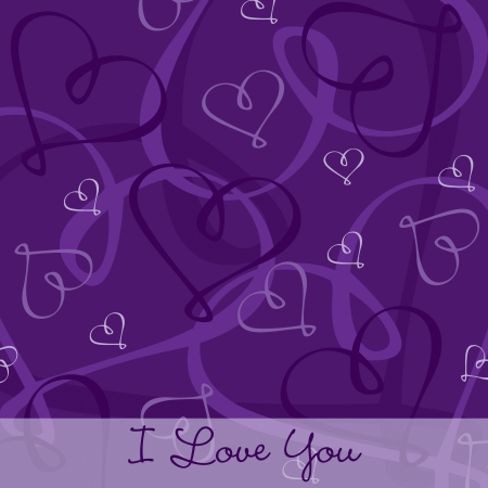 Hand Drawn heart textured card background in vector format  Vector