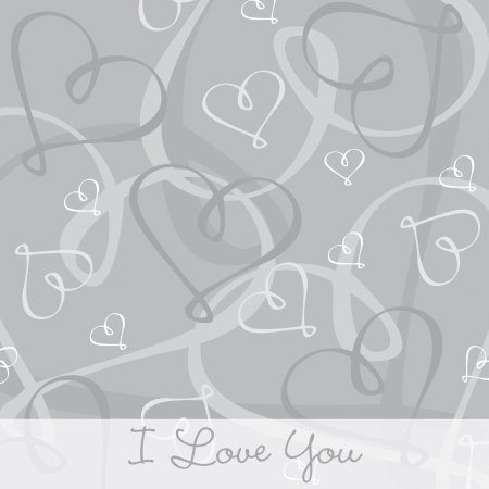 Hand Drawn heart textured card background in vector format  Stock Vector - 19644394