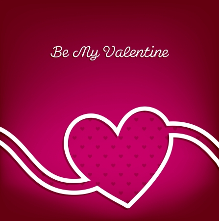 Swirl heart Valentine s Day card in vector format  Vector