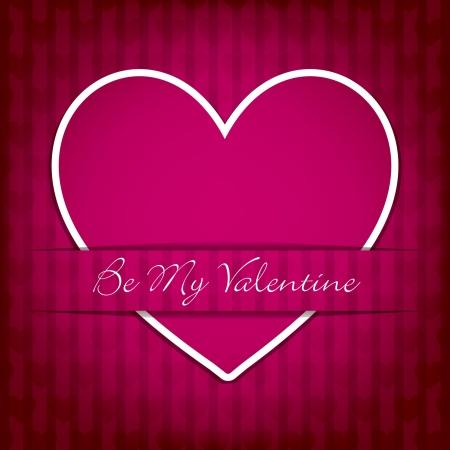 Sticker heart Valentine s Day card in vector format  Vector