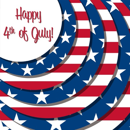 4th of July card in vector format  Vector