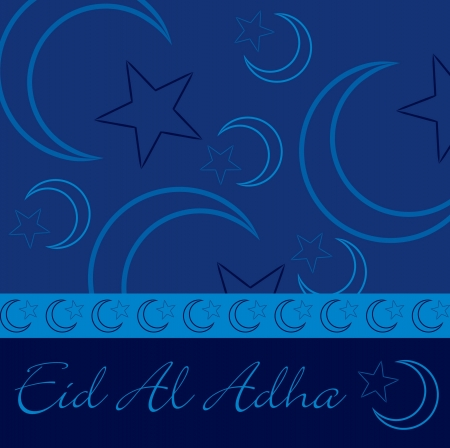 Hand drawn  Eid Al Adha  greeting card in vector format  Vector