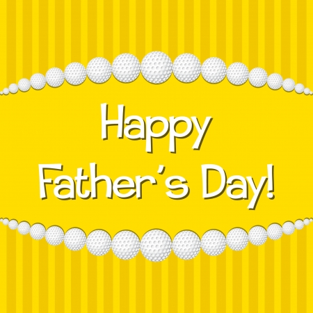 Golf theme Happy Father s Day card in vector format  Vector